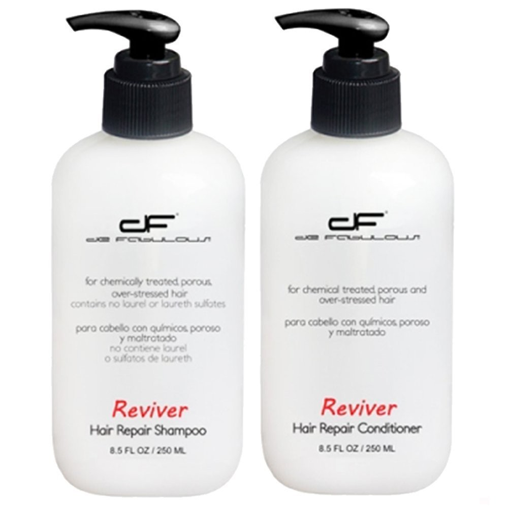 De Fabulous Shampoo and Conditioner Reviver Set Sulfate Free for Keratin Treatment 8oz De Fabulous Shampoo and Conditioner Reviver Set Sulfate Free for Keratin Treatment 8oz